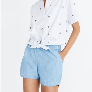 Madewell pull on chambray shorts XXL